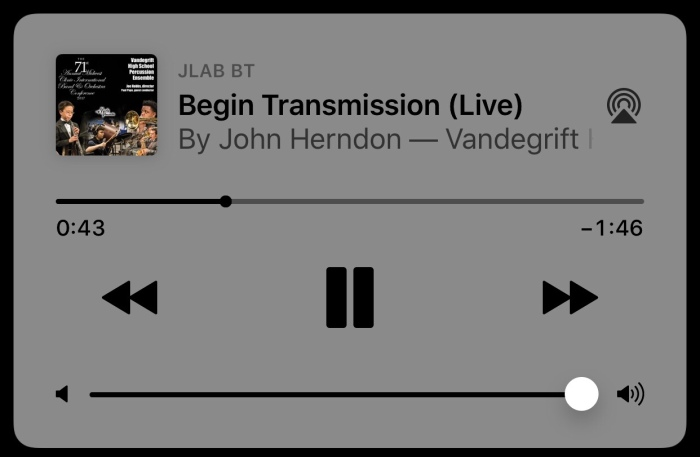 'Begin Transmission' on iTunes